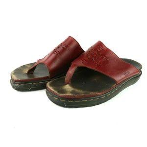 Dr. Doc Martens 90s Red Platform Sandals